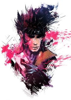 Gambit Portrait by Vincent Vernacatola - Marvel Comics Art - X-Men