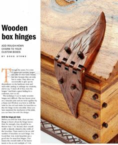 Wooden Box Hinges - Woodworking Plans