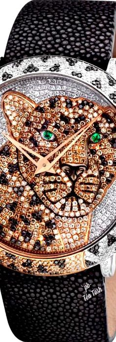 ❇Téa Tosh❇Le Vian, Leopard Watch, From The Into The Wild Collection