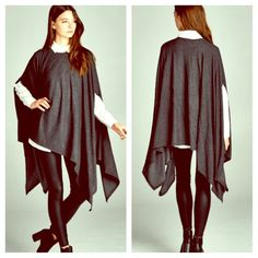 AVAILABLE! Charcoal Swing Poncho  COMING SOON! Comment to reserve. Color is Charcoal. NWT. OS. linsleppo2 Tops Tunics
