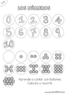Numeros y botones aprende a contar 1