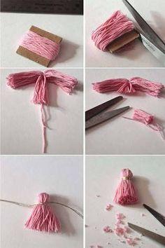 Resultado de imagen para como hacer borlas
