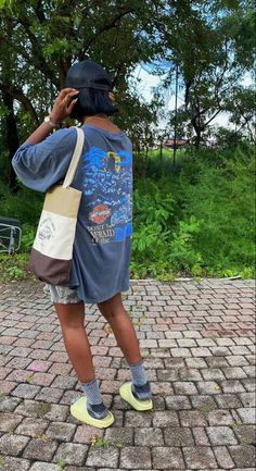 Baddie Outfits Casual, Cute Swag Outfits, Dope Outfits, Teen Fashion Outfits, Retro Outfits, Trendy Outfits, Black Girl Fashion, Tomboy Fashion, Streetwear Fashion