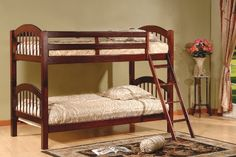 1f5a227938ce Cherry Finish Wood Arched Design Twin Size Convertible Bunk Bed. Need like  2 of these