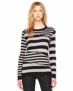 MICHAEL Michael Kors  Wrapped Mix-Stripe Top.
