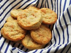 Stilton Cheese Biscuits Recipe Ingredients Serves:Â butter stilton cheese almonds, diced plain flour 1 egg y. Easy Appetizer Recipes, Snack Recipes, Snacks, Cheese Recipes, Stilton Cheese, Muffins, Flavored Butter, Cheese Biscuits, Serious Eats