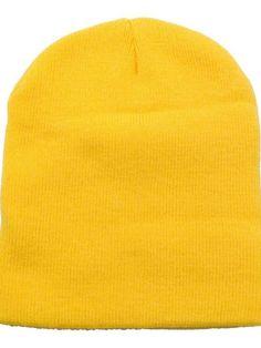 630d902b987a3 Men   Women s Winter Acrylic Knitted Beanie - 1036 Yellow - CM11N3GA79D