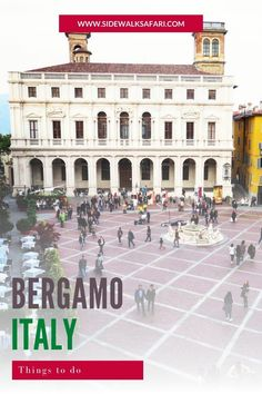 Looking for Italy destination ideas? Take a city break to Bergamo Italy.   Learn about things to do in Bergamo. #Bergamo #Italy #ItalyTravelIdeas   #ItalyDestinationIdeas Weekend City Breaks, Stuff To Do, Things To Do, European City Breaks, Short Break, Italy Travel, Travel Ideas, Louvre, Explore