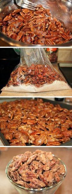 Cinnamon Sugar Pecans Recipe ❤︎