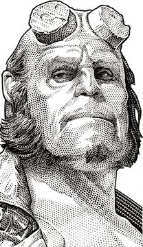 Wall Street Journal Hedcuts by Randy Glass, via Behance (Hell Boy) Comic Books Art, Comic Art, Hellboy Tattoo, Drawing Sketches, Art Drawings, Stippling Art, Bd Comics, Mike Mignola, Wall Street Journal