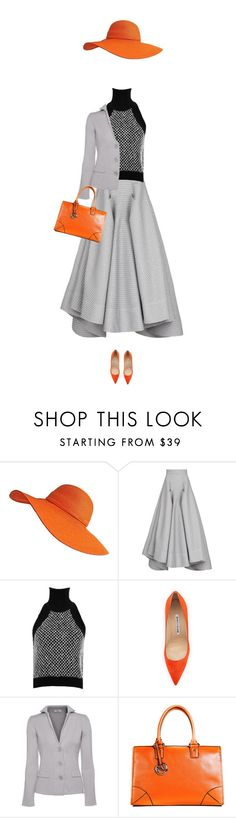 """""""gbo"""" by bodangela ❤ liked on Polyvore featuring Maticevski, Jonathan Simkhai, Manolo Blahnik and AnneClaire"""