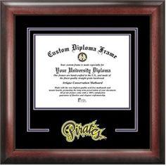 ECU East Carolina University Matted Diploma With Mahogany Frame