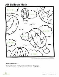kids will get some great addition practice as they complete the problems on these fun worksheets with addition coloring pages kids get to color the scene - Coloring Pages Addition Facts