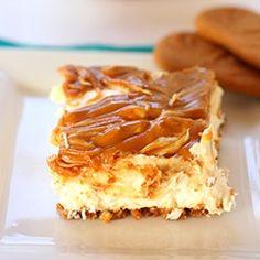 No-Bake Egg-Free Biscoff Swirl Cheesecake - a rich and creamy no-bake cheesecake made w Biscoff crust & topped w Biscoff swirl