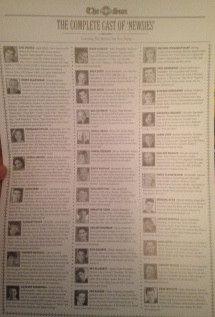 Newsies Souvenir Program - Cast Page