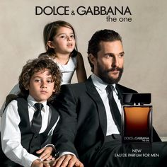 Matthew McConaughey's Children Make a Cameo in His Dolce & Gabbana Fragrance Campaign from InStyle.com