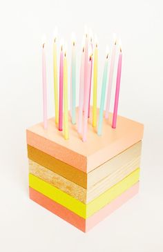 8 Clever Birthday Party DIYs: 8 Clever Birthday Party DIYs: Wooden Birthday Cake