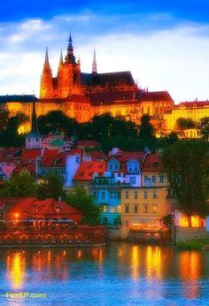 Prague Castle, Czech Republic: one of the prettiest places i've ever been!