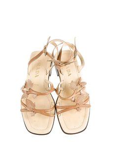 Prada S/S 1997 leaf applique sandals