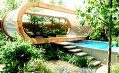 Inspiration Outdoor Natural Garden Design Ideas by Andy Sturgeron Garden Design Images, Home Garden Design, Modern Garden Design, Home And Garden, House Design, Contemporary Garden, Modern Design, Landscape Architecture, Landscape Design