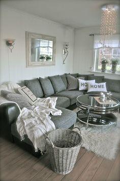 Living Room Inspiration... Needs a pop of yellow and teal - interiors-designed.com
