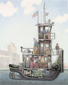 Peek Below Ship Decks In Illustrations Inspired By My Time At Sea