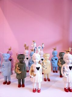 Porcelain Clonette dolls from Store Without a Home, Amsterdam storewithoutahome.nl International and independent design boutique selling interior goods and gifts from remarkable brands and talented designers.