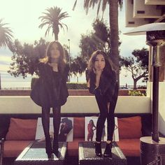 Friends Caitlyn Chase & Donna Mizani pose at their joint Holiday Trunk Show at the Fairmont Hotel in Santa Monica, California. #designers #fashion #ootd #girls