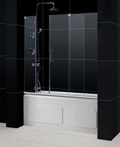 Dreamline Shdr 19605810 Mirage 56 To 60 In Frameless Sliding Tub Door Bathroom Shower