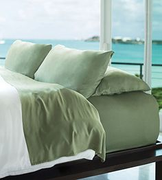Resort Bamboo Sheets by Cariloha Best Offer. Best price Resort Bamboo Sheets by Cariloha - 4 Piece bed Sheet Set - Luxurious Sateen Weave - Viscose From Bamboo Bedding (Caribbean Mint, California King) Thes Luxury Beach Resorts, Vacation Resorts, Vacations, Queen Bed Sheets, Bedding Sets Uk, Pottery Barn Teen Bedding, Bed Photos, Bed Sheet Sets, Cool Beds