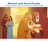 simeon and anna puzzle kids ministry printable activities