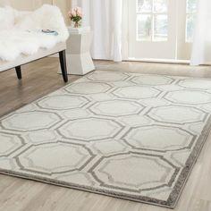 Safavieh Indoor/ Outdoor Amherst / Light Grey Rug