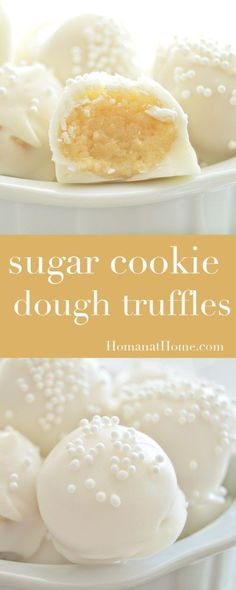 Sugar Cookie Dough Truffles | Homan at Home
