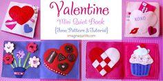valentine mini quiet book tutorial