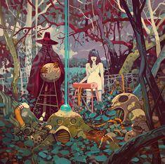 The Dark, Cyberpunk And Fantasy Paintings Of Jakub Rebelka – Design You Trust Art And Illustration, Art Inspo, Kunst Inspo, Fantasy Kunst, Fantasy Art, Cyberpunk, Fantasy Magic, Comic Kunst, Fantasy Paintings