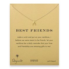 best friends wishbone necklace gold dipped
