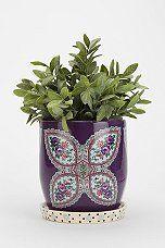 Plum & Bow Floral Pattern Planter