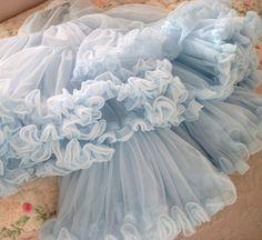 soft blue tulle fluff...............