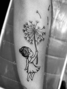 Cute Dandelion Tattoo by Sierra Bancroft
