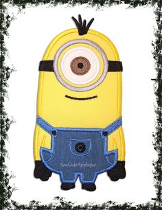 Minion one eye No Sew Applique Patch by SewCuteApplique on Etsy, $10.50
