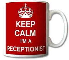 Keep Calm I'm A Receptionist Mug Cup Personalised Gift Mugs