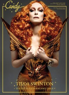 Tilda Swinton for Candy Magazine, the first Transgender magazine. Holy, is she gorgeous in the photo spread.