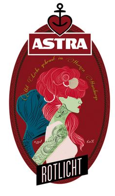 Restyling Label Astra beer by Andrea Pagano, via Behance