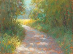 "Daily Paintworks - ""Park Trail - day - Original Fine Art for Sale - © Rita Kirkman Park Trails, Daily Painters, Fine Art Auctions, Small Paintings, Fine Art Gallery, Art For Sale, Collage Art, Painting & Drawing, Still Life"