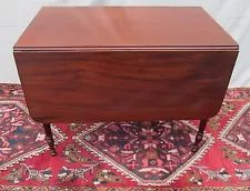 C Antique Mahogany Pembroke Drop Leaf Lamp Side Table with One Drawer for sale online Table 19, Table Desk, Table Furniture, Antique Furniture, Small Hall Table, Boston Furniture, Early American Furniture, Jelly Cupboard, Pembroke Table