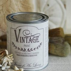 Matta lakka - JDL Vintage Paint - Ultra Matt Varnish - 700 ml Vintage Tins, Shabby Vintage, Dyi Bathroom Remodel, Jeanne D'arc Living, Living Vintage, Types Of Painting, Antique Roses, Industrial Interiors, Annie Sloan