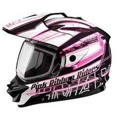 Snow Sport Helmet | GMax-GM11S-Pink-Ribbon-Rider-Snow-Sport-Snowmobile-Helmet-ALL-SIZES