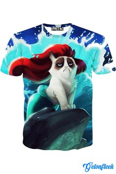 Grumpy Cat Mermaid Tee - Shop our entire collection of Cat Apparel! www.getonfleek.com