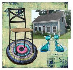 """Rag rugs from Sewing Tune"" by olga-ananina on Polyvore featuring interior, interiors, interior design, дом, home decor, interior decorating, Walker Edison и Alfredo Barbini"