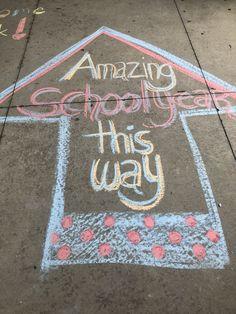 1st Day Of School, Beginning Of The School Year, School Staff, Middle School, School Chalkboard Art, Chalkboard Art Quotes, Teacher Morale, Chalk Design, Chalk Ideas
